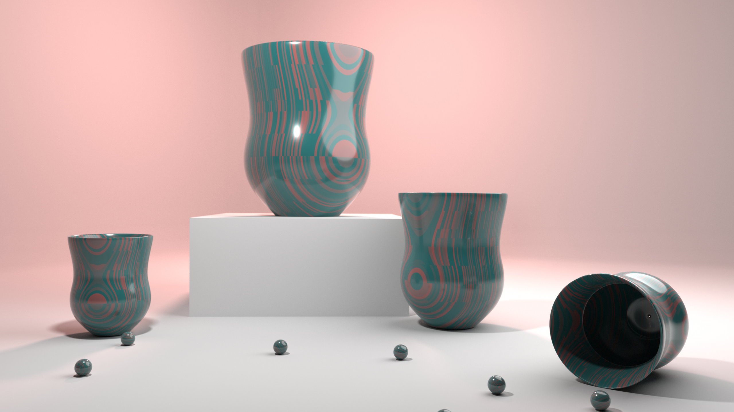 Ceramic Still Life, 3D design, 2019